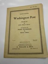 Sheet Music Washington Post March John Philip Sousa Piano Accordion 52905 - $11.87