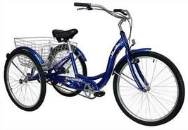 Schwinn Meridian Full Size Adult Tricycle 26 wheel size Bike Trike, blue - $385.69