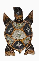 WorldBazzar Hand Carved Wood Nautical Turtle with Sand Finish Wall Art o... - $24.69