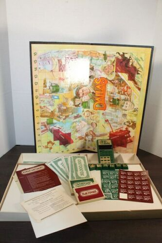Vintage 1981 Dallas TV Show Mattel Electronics Board Game JR Ewing Computer