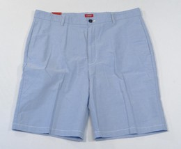 Izod Luxury Sport Classic Fit Flat Front Blue Casual Shorts Mens NWT - $37.49