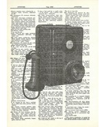 Antique Candlestick Wall Phone Voice Fun Mixed Media Dictionary Art Prin... - $10.99