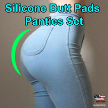 #1 100% Silicone Buttocks Implant Butt Panties Enhancer Removable Booster Pads - $19.94