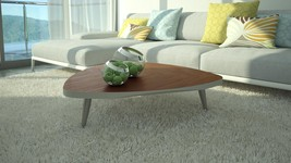 Coffee Table in Wood Veneer Top Contemporary Style At Home USA Googie - €493,45 EUR