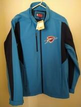 NWT Authentic NBA OKC Thunder Warm Up Jacket Sz Large Blue Rare  - $48.51