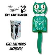 """Grün Schönheit Set Katze Uhr 15.5 """" Gratis Batterie Gefertigt in die USA... - £48.20 GBP"""