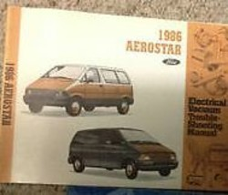 1986 FORD AEROSTAR Electrical & Vacuum Troubleshooting Wiring Diagrams Manual - $5.20