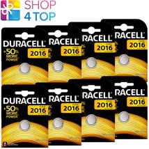8 Duracell CR2016 Lithium Batteries 3V Coin Cell DL2016 ECR2016 Exp 2027 New - $10.19
