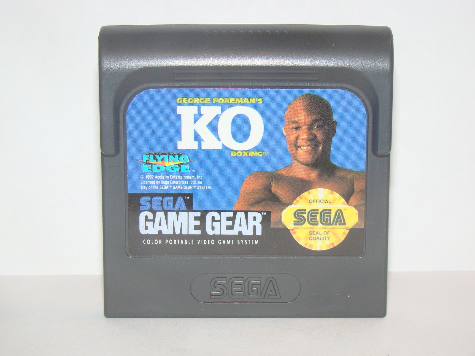 SEGA GAME GEAR - GEORGE FOREMAN'S KO BOXING (Game Only)
