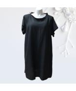 Flax Truly Dreamy Linen Dress Pockets womens 2G XXL 2X Black NWT - $88.00