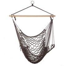 Crochet Hammock Chair, Hanging Chair For Patio, Made From Recycled Cotton - $35.49