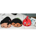 New Disney Tsum Tsum Moana 3 Pce Plush Maui Hei Hei Rooster Chicken  - $16.82