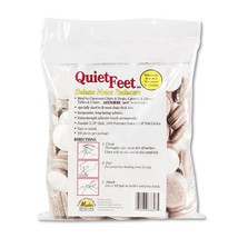 "Quiet Feet Deluxe Noise Reducers, 1 1/4"" Dia, Circular, Beige, 100/pack - $62.20"