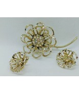 """1960s Sarah Coventry """"Allusion"""" Double Layer Crimped Petals Full Set - $32.73"""