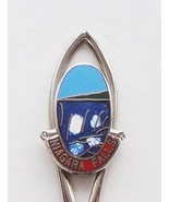 Collector Souvenir Spoon Canada Ontario Niagara Falls US New York Cloisonne - $2.99