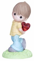 Precious Moments Figurine, Boy with Heart Behind Back - $23.39