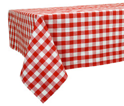 60 x 84 in. Cotton Tablecloth Checkered Red & White - $24.16