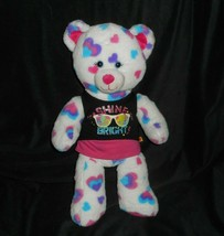 BABW BUILD A BEAR VALENTINE PINK BLUE PURPLE HEARTS STUFFED ANIMAL PLUSH... - $23.38