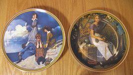 2 Rockwell Plates Dreaming In Attic & Waiting on Shore MIB COA & Booklet... - $18.13