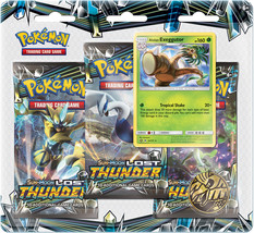 Pokemon Lost Thunder Blister Pack Alolan Exeggutor Promo 3 Booster Packs... - $14.95