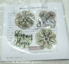 Close To My Heart Winters Magic Clear Acrylic Stamp Set NEW ak - $5.93