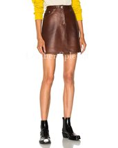 Corporate Styled Women Mini Leather Skirt