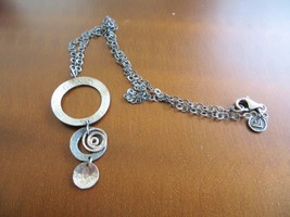 Silpada necklace 25 listings silpada retired sterling 925 3 circle swirls oxidized hammered necklace n1701 4500 aloadofball Images