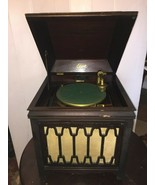 Edison Disc Crank Phonograph B150 Record Player Cabinet w/ Records Victrola - $494.99