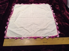 Assorted Lot of Antique Napkins in Various Colors/Sizes/Designs Some Applique  image 4