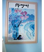 art Print Signed ALEXANDRE MINGUET Fleurs et place De Simpson Bay  - $435.60