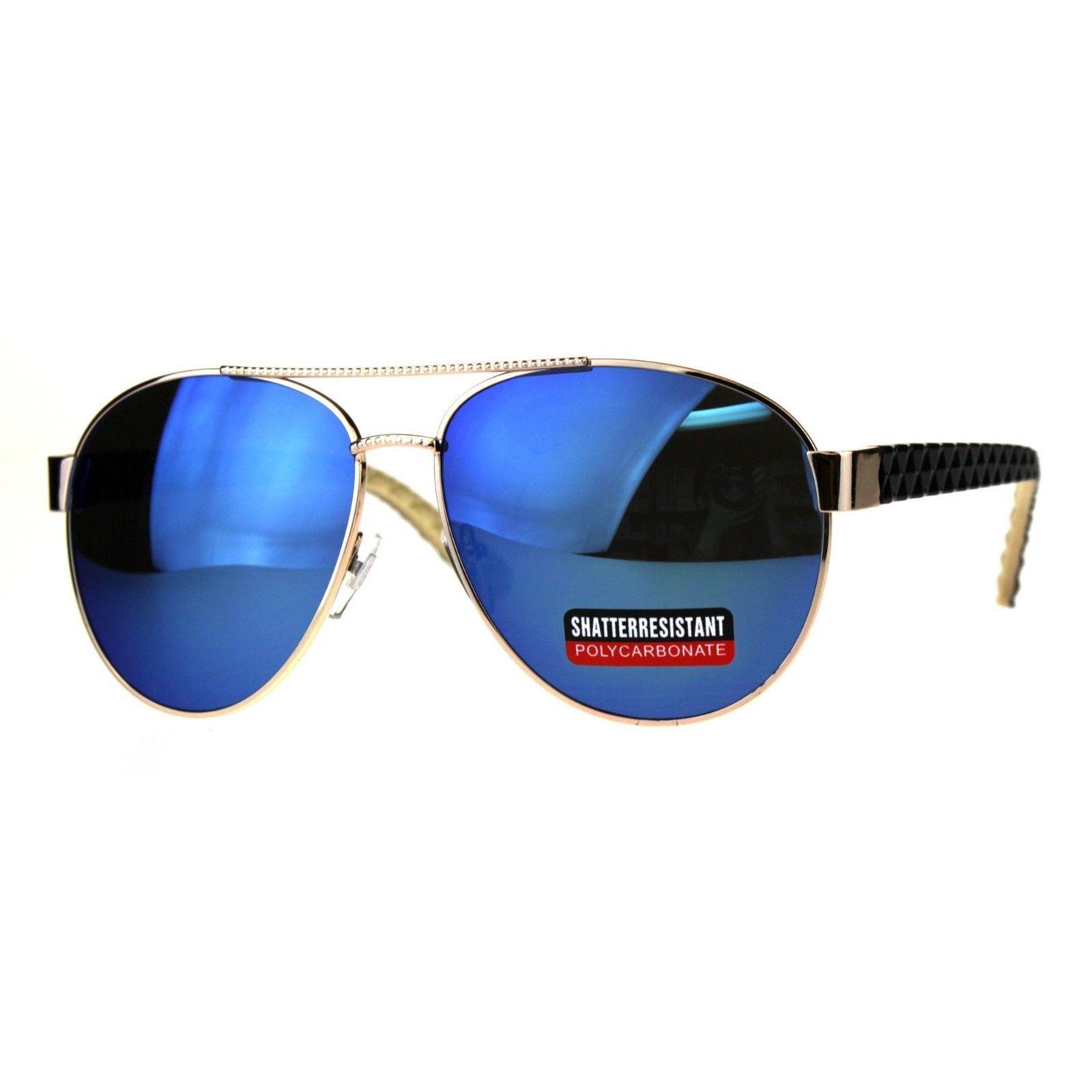 Womens Aviator Sunglasses Stylish Texture Pattern Design Frame UV 400