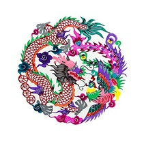 George Jimmy [Dragon and Phoenix] 4 Pcs Delicate Chinese Paper Cut Decor... - $20.63