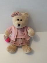 Starbucks Bearista Bear Plush Stuffed 59th Edition Valentine w/ pearls & purse  - $9.99