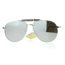 New Flat Lens Aviator Sunglasses Vintage Retro Top Bar Metal Aviators - $9.85