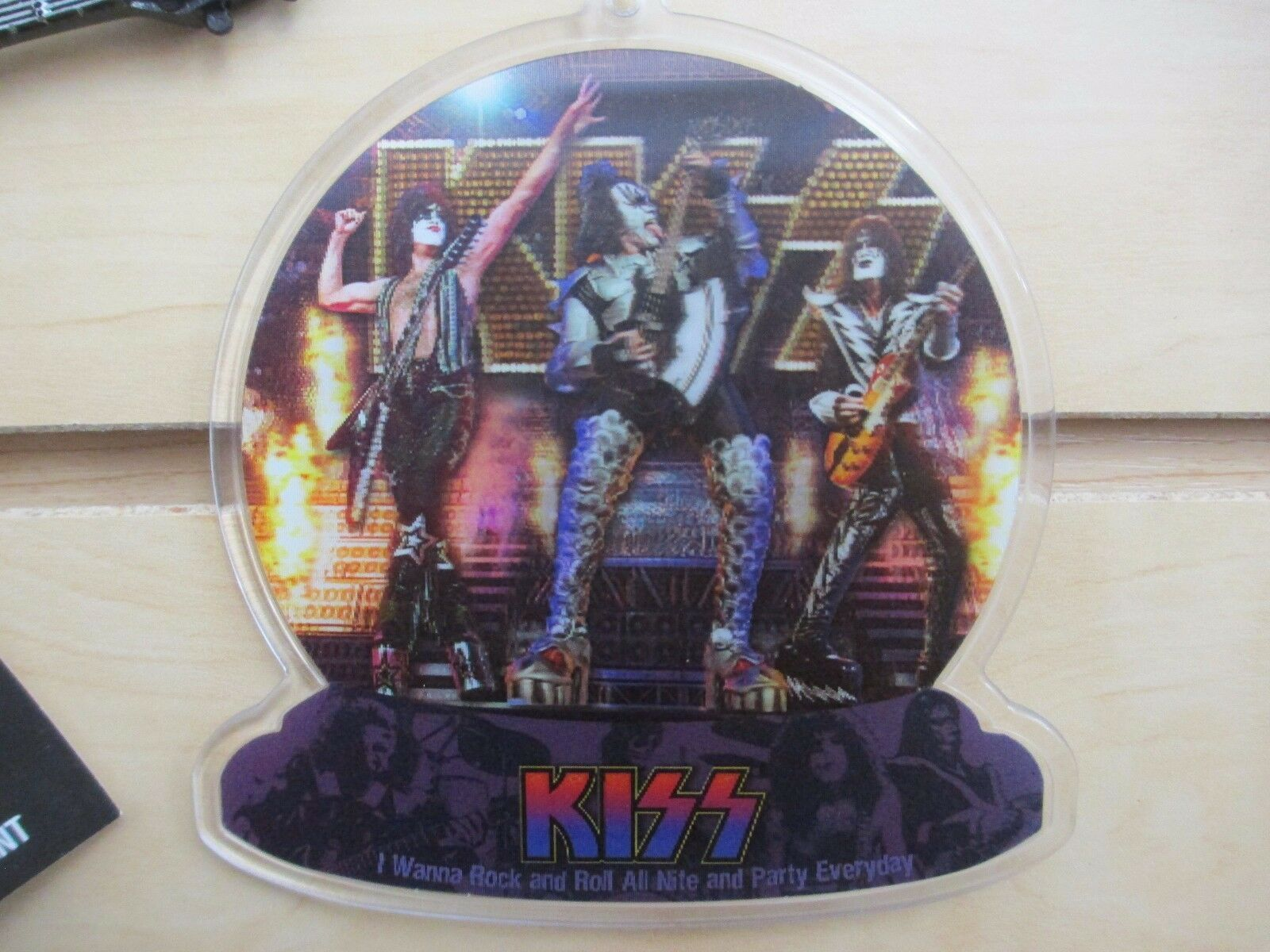 Set of 3 - KISS Ornaments - Demon & Star Child Guitars - New with Tags