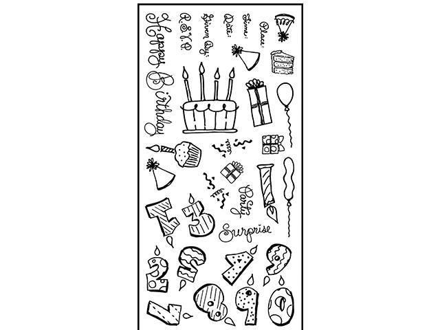 Fiskars-32 Clear Stamp Set-Put On Your Party Hat- #126-8951