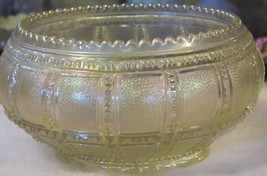 """Vintage IMPERIAL Rose Bowl """"Frosted Block"""" White Carnival Glass Bowl 1920 - $35.66"""
