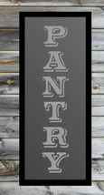 """Pantry Vertical Frosted Silver Etched Glass Vinyl Sticker Decal FS 12""""h x 2""""w - $15.99"""