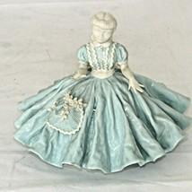 Vintage Alberta's Figurine Girl Woman Full Blue Dress Mold Ceramic 1953 ... - $29.69