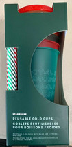 Starbucks Winter Christmas Holiday 2019 Reusable Cold Cups 5 Pack 24 Oz New - $34.74