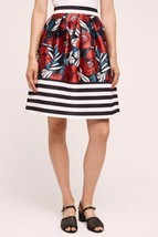 NWT ANTHROPOLOGIE CALLAM PLEATED FLORAL SKIRT by HD in PARIS 6 - $56.74