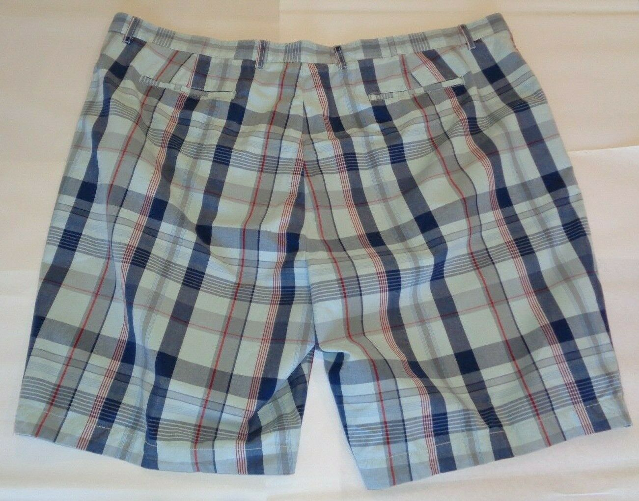 Casuals Roundtree & Yorke Size 52 STRAIGHT FIT Light Blue Cotton New Mens Shorts image 2