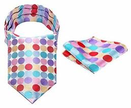 BIYINI Men's Dot Ascot Handkerchief Jacquard Woven Cravat & Pocket Squar... - $20.62