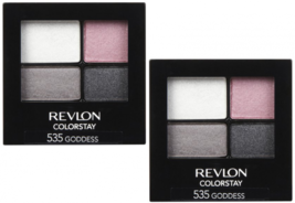 (2-PACK) REVLON Colorstay 16 Hour Eye Shadow Quad, Goddess, 0.16 OZ - $18.99
