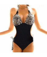 Women Cut Out Leopard Print Monokini Swimsuit - $21.00