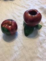 "Franciscan Apple Blossom 2"" Candle Holder And Salt Shaker 2 Pc Lot - $14.01"