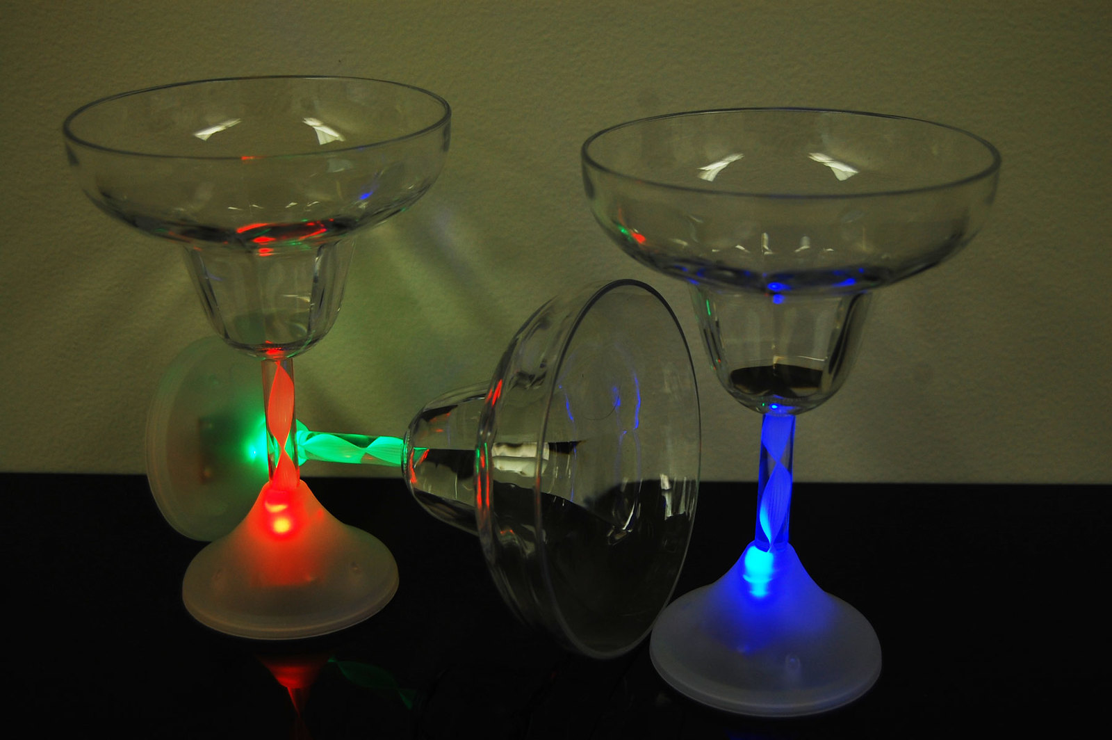 2 Pack 8 Mode Color Changing LED Margarita Glasses - $9.95