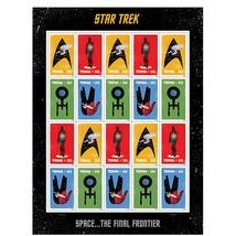 Star Trek USPS Sheet of 20 Stamps - $18.99