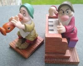 Enesco Lot of 2 Walt Disney Snow White 7 Dwarfs 65th Figures Sleepy Doc Grumpy - $16.50