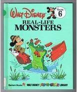 ORIGINAL Vintage 1983 Disney Library #6 Real Life Monsters Hardcover Book - $9.49